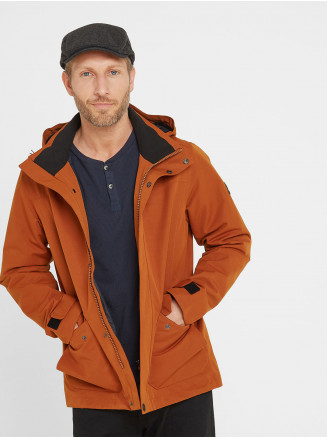 Mens Beamsley Waterproof Jacket Orange