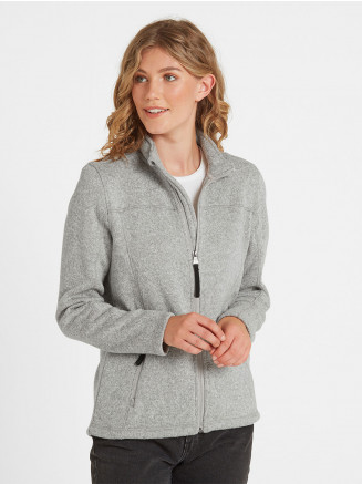Womens Charlton Knitlook Fleece Jacket Grey