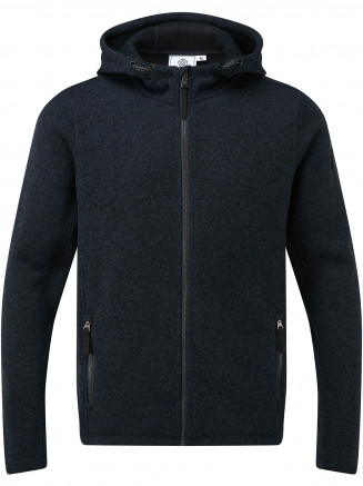 Mens Cropton Knitlook Fleece Hood Blue