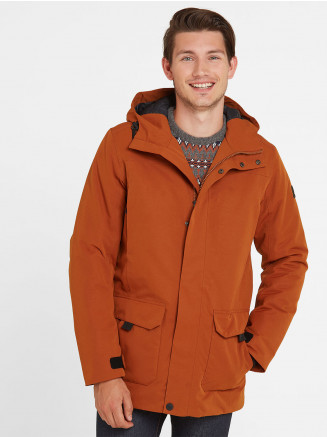Mens Dight Waterproof Parka Orange