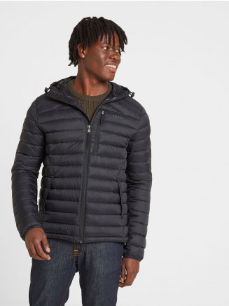 Mens Drax Hooded Down Jacket Black