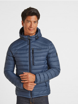 Mens Drax Hooded Down Jacket Grey