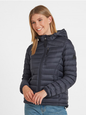 Womens Drax Hooded Down Jacket Blue