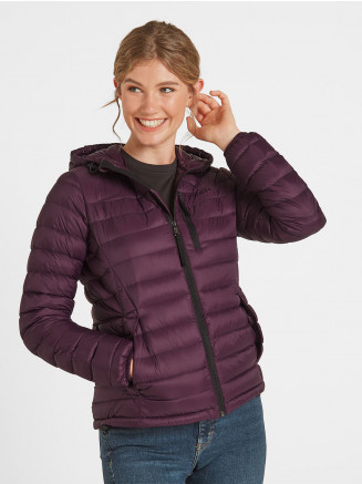 Womens Drax Hooded Down Jacket Purple