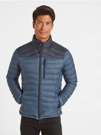 Mens Drax Funnel Down Jacket Grey