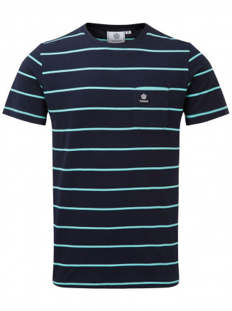 Mens Elliot Stripe Tshirt Blue