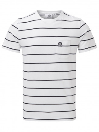 Mens Elliot Stripe Tshirt White
