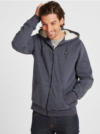 Mens Frewin New Sherpa Hoody Blue