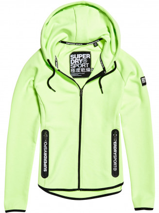 Womens Sport Gym Tech Luxe Zip Hoody Green