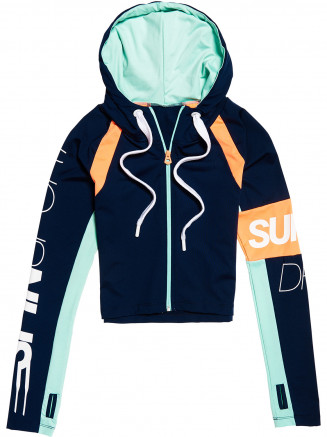 Womens Spin Sprint Zip Hoody Blue