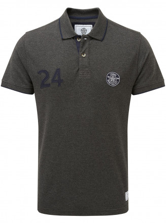 Mens Hebble Pique Polo Shirt Grey