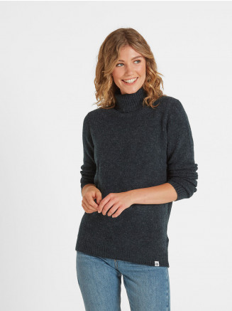 Womens Hilary Chunky Roll Neck Blue