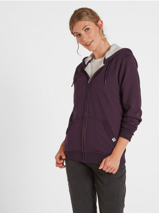 Womens Hove Sherpa Lined Hoody Purple