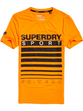 Mens Athletic Tech Tshirt Orange