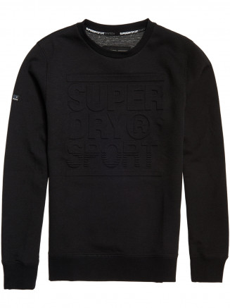 Mens Gym Tech Crew Black