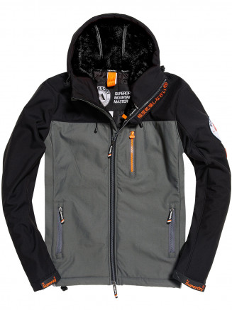 Mens Hooded Mountain Marker Black
