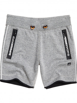 Mens Gym Tech Stripe Slim Shorts Grey
