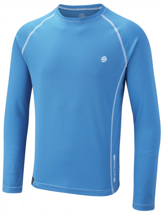 Mens Torngat Crew Neck Baselayer Blue