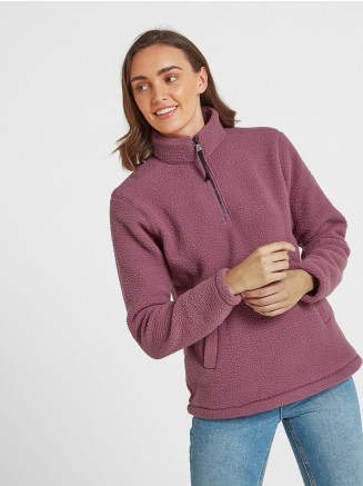 Womens Moira Sherpa Fleece Zipneck White