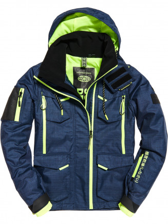 Mens Ultimate Snow Action Jacket Blue