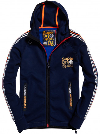 Mens Gymtech Team Zip Hoody Blue