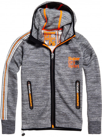 Mens Gymtech Team Zip Hoody Grey