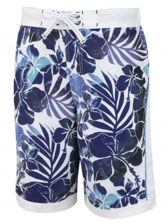 Mens Blue Hawaii Tropical Boardshort Blue