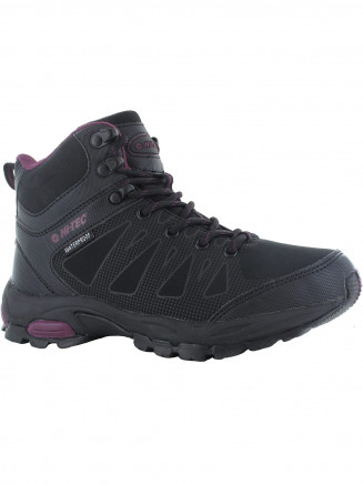 Womens Hi-tec Raven Mid Wp Black