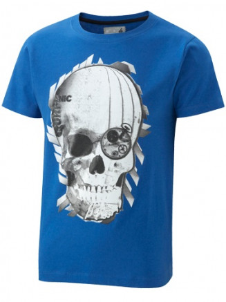 Boys Cons Skull Tee Blue