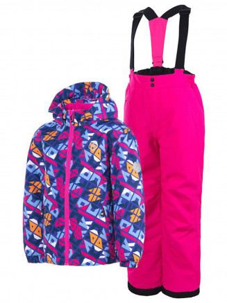 Kids Satvik Ski Set Purple