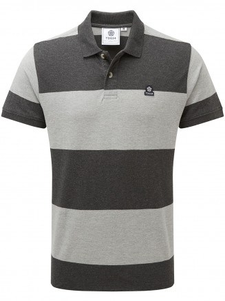 Mens Seacroft Mn Pique Stripe Polo Grey
