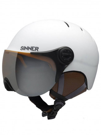 Mens Womens Crystal Helmet White