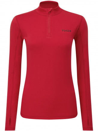 Womens Snowdon Thermal Zip Neck Red