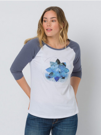 Womens Sunsets Long Sleeve Tshirt Blue