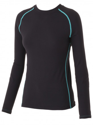 Womens Susi Crew Neck Baselayer Black