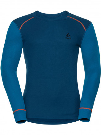 Mens Warm L/s Crew Neck Blue