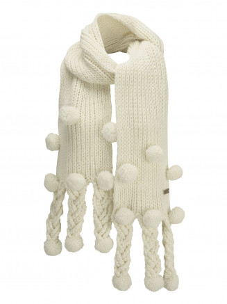 Womens Dice Scarf White