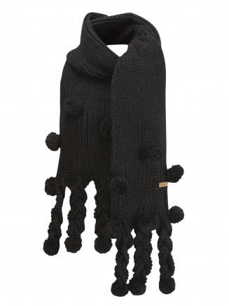 Womens Dice Scarf Black