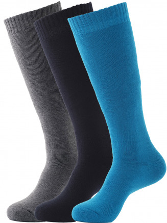 Pro Tech 3 Pack Ski Sock Black