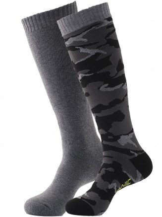 Pro Tech 2 Pack Camo Sock Black