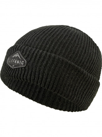 Mens Womens Rollback Beanie Black