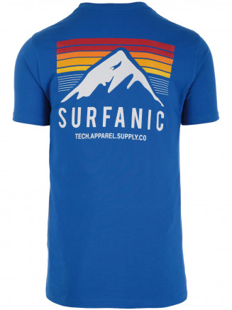 Mens Sunset T-shirt Blue