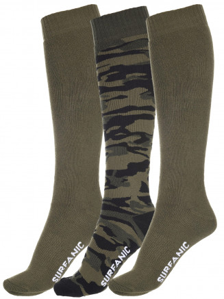 Mens Pro Tech Core 3 Pack Sock Green