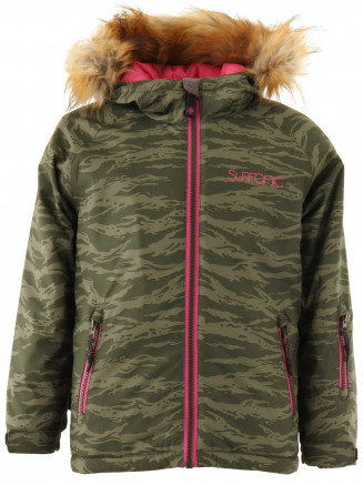 Girls Labyrinth Surftex Jacket Green