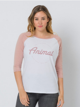 Womens Washout Long Sleeve Tshirt Pink