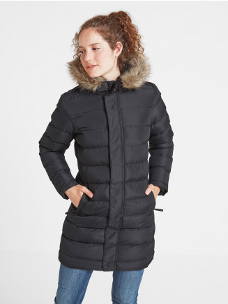 Womens Yeadon Long Insulated Jacket Black